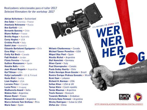 Selecionados para a oficina com Werner Herzog